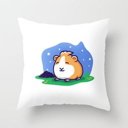 Poop in the Night Throw Pillow