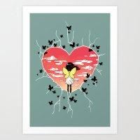 butterflies Art Prints featuring Butterflies by Freeminds