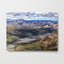 A River Through the Mountains - Denali, Alaska Metal Print
