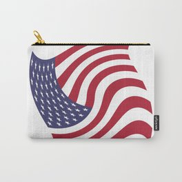 flag in the wind 1 : USA Carry-All Pouch