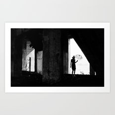 In Black Art Print
