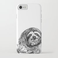 sloth iPhone & iPod Cases featuring sloth by ARI(Sunha Jung)