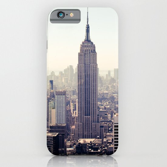 Manhattan - Empire State Building Pano | colored iPhone & iPod Case
