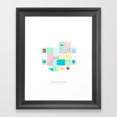 For Japan with love 3 Framed Art Print