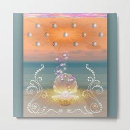 Pearlized Stardust I Metal Print