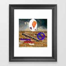 Trumpty Dumpty sat on a wall Framed Art Print