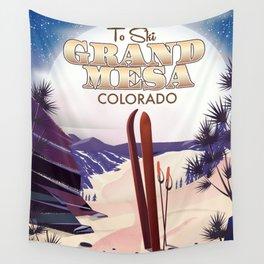 Grand Mesa ski travel poster Wall Tapestry