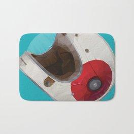 Bell Bullitt Cafe Racer Helmet Polygon Art Bath Mat