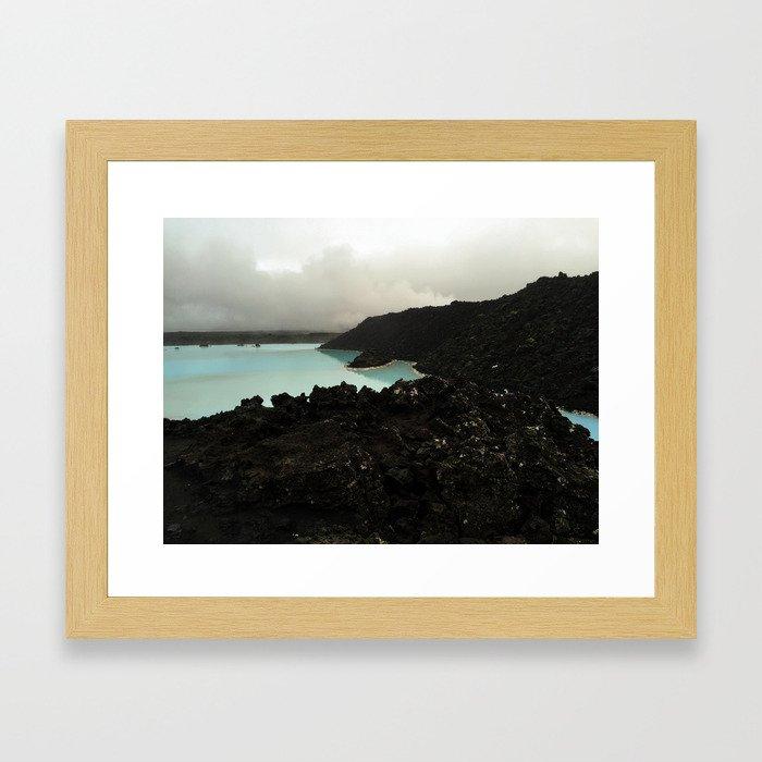 Volcanic Lagoon Framed Art Print