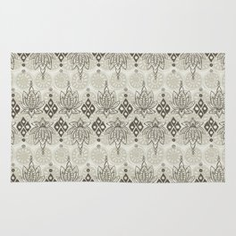 lotus diamond linen Rug