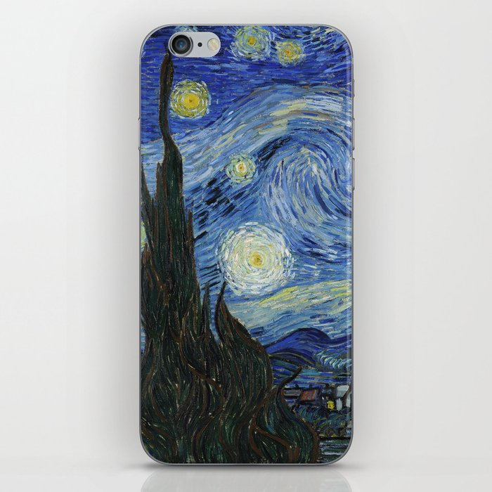 The Starry Night by Vincent van Gogh iPhone Skin by palazzoartgallery