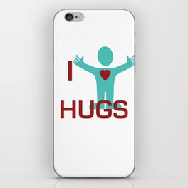 I heart Hugs iPhone Skin