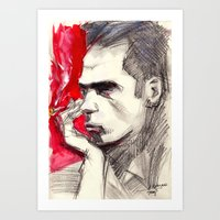 nick cave Art Prints featuring Nick Cave by Smog