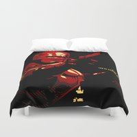 robocop Duvet Covers featuring Robocop - Alternative poster by Lorenzo Imperato
