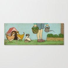 Micro Chicken Farming Canvas Print