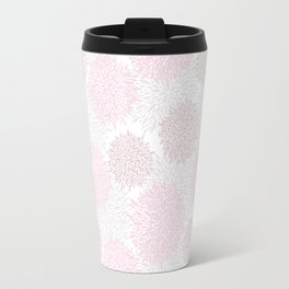 Blush pink brown modern pastel color floral pattern Travel Mug