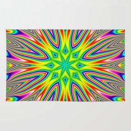 Psychedelic Rainbow Kaleidoscope Rug