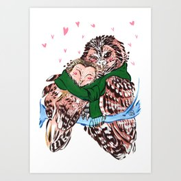 Love You Owlways Art Print