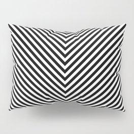 Back and White Lines Minimal Pattern Basic Pillow Sham