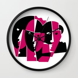 SCHEMING THIEVES Wall Clock