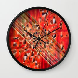 Cross Connected Wall Clock