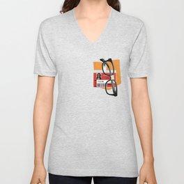 Alex Vause Prison Badge Fake Pocket Shirt With Glasses Unisex V-Neck