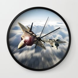 F-22 Raptor Strike Wall Clock
