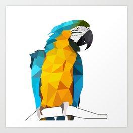 Macaw geometric bird art Tropical nature Art Print