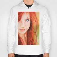 redhead Hoodies featuring Redhead Girl by Samuel Silva