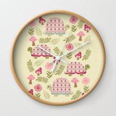 Cheerful Turtles Wall Clock