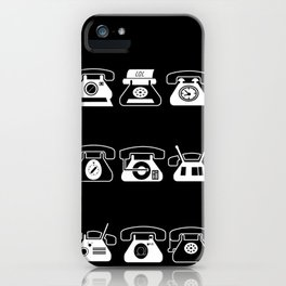 Fifties' Smartphones Black iPhone Case
