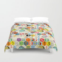 Math in color (little) Duvet Cover