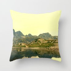 Somewhere in the mountains Throw Pillow