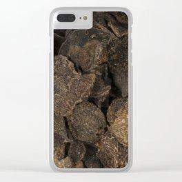 Black Truffles Clear iPhone Case