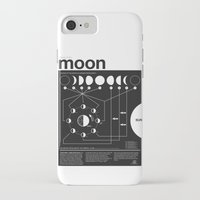 geek iPhone & iPod Cases featuring Phases of the Moon infographic by Nick Wiinikka