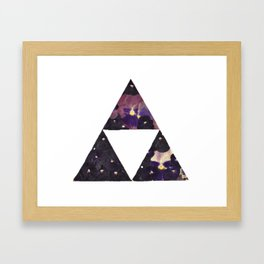 Pansy Triforce Framed Art Print