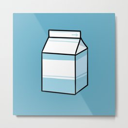 Milk Carton Metal Print