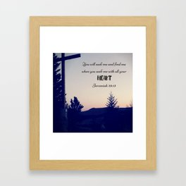 Seek God Framed Art Print