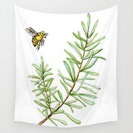 Rosemary and Honey Bee Wall Tapestry