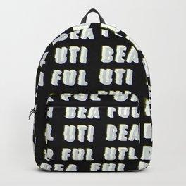 Beautiful - Typography Backpack