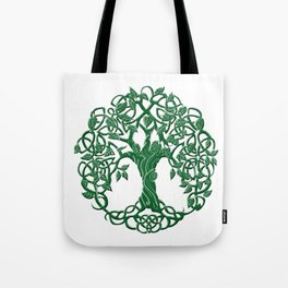 Tree of life green Tote Bag