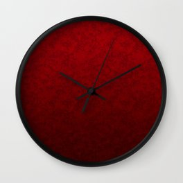 Red marble Wall Clock