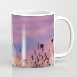 LOOK OUTSIDE - Flowers & Sunset #1 #art #society6 Coffee Mug