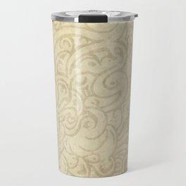 Billowing - Natural White Travel Mug