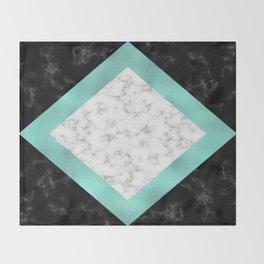 Mint marble Throw Blanket
