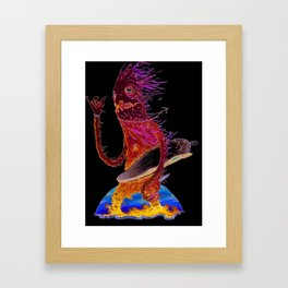 Giant riding Framed Art Print