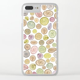 Tree Rings Clear iPhone Case