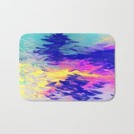 Neon Mimosa Inspired Painting Bath Mat