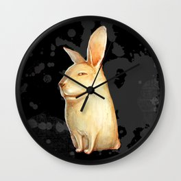 smile rabbit Wall Clock