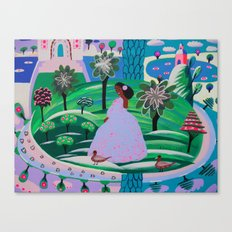 Lady Giggle Canvas Print